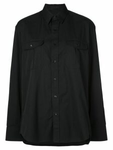 WARDROBE. NYC Release 03 tailored poplin shirt - Black