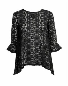 Lovedrobe GB Floral Lace Flare Top