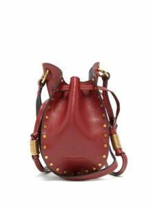 Isabel Marant - Radji Studded Leather Bucket Bag - Womens - Dark Red