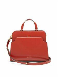 Marni - Trunk Reverse Large Leather Bag - Womens - Orange