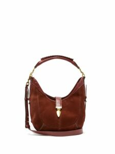 Isabel Marant - Kaliko Small Suede Shoulder Bag - Womens - Dark Red