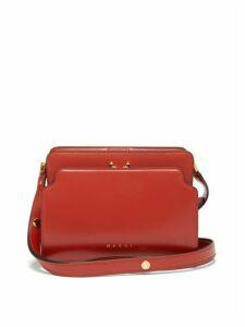 Marni - Trunk Reverse Medium Leather Shoulder Bag - Womens - Orange