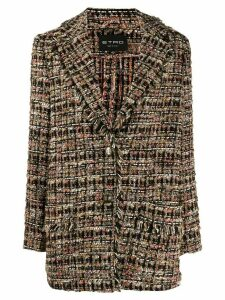 Etro tweed balzer coat - Black