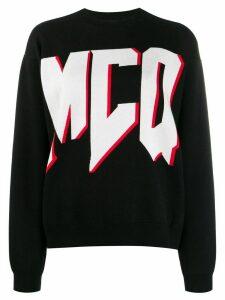 McQ Alexander McQueen contrast logo jumper - Black
