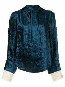 Toga velvet tie blouse - Blue