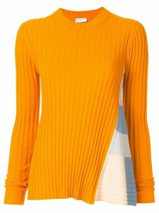 Rosetta Getty stripe panel jumper - ORANGE