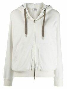 Brunello Cucinelli long sleeve hoodie - White