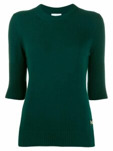 Barrie ribbed cashmere top - Green