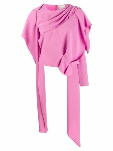 A.W.A.K.E. Mode draped asymmetric top - PINK