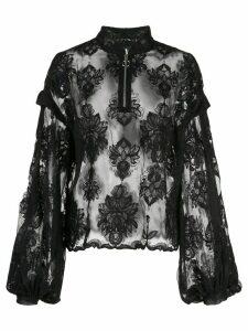 Victoria Hayes floral lace blouse - Black