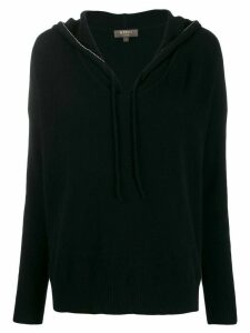 N.Peal metal edged hoodie - Black