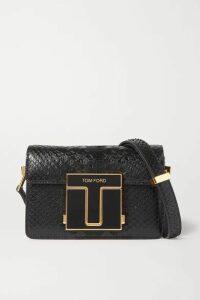 TOM FORD - 001 Small Python Shoulder Bag - Black