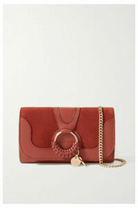 See By Chloé - Hana Suede And Textured-leather Shoulder Bag - One size