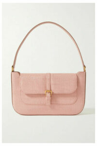 BY FAR - Miranda Lizard-effect Leather Shoulder Bag - Pink