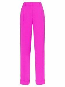 Esteban Cortazar high-rise contrast stripe tailored trousers - PINK