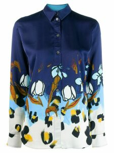 Paul Smith Painted Floral shirt - Blue