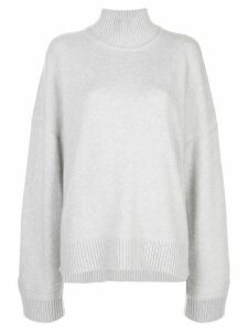 Rosetta Getty oversized turtleneck sweater - Grey