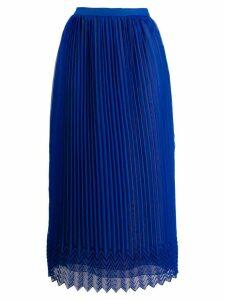 Marco De Vincenzo high-waist pleated skirt - Blue