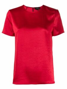 Theory round neck short sleeve top - Red