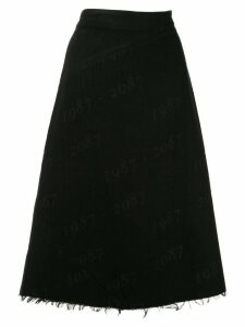 Yang Li distressed hem skirt - Black