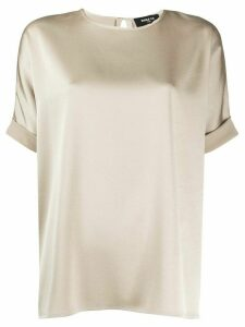 Paule Ka relaxed fit turn up cuff blouse - NEUTRALS
