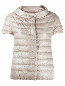 Herno short-sleeved puffer jacket - NEUTRALS