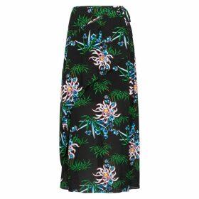 Kenzo Floral-print Chiffon Midi Skirt