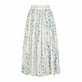 Forte forte Floral-print Cotton Midi Skirt