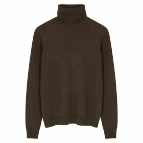 Jil Sander Brown Roll-neck Cashmere Jumper