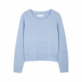 Samsøe & Samsøe Blue Wool-blend Jumper