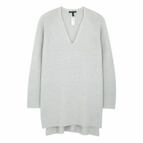 EILEEN FISHER Light Grey Cashmere Jumper