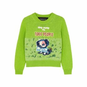 Marc Jacobs X Magda Archer Embroidered Wool-blend Jumper