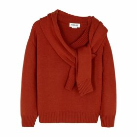 MONSE Terracotta Layered Merino Wool Jumper