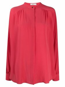 Closed concealed-button silk shirt - PINK
