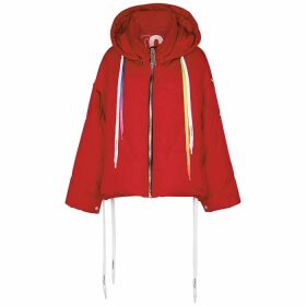 KhrisJoy Red Hooded Shell Jacket