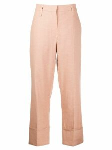 Brunello Cucinelli cropped trousers - Brown