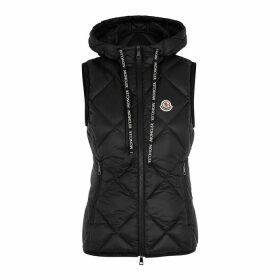 Moncler Sucrex Black Quilted Shell Gilet