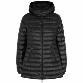 Moncler Menthe Black Quilted Shell Jacket