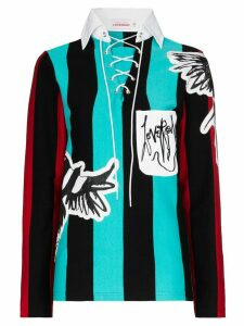 Charles Jeffrey Loverboy Magpie striped jumper - Green