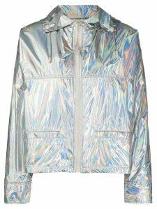 Yves Salomon metallic quilted jacket