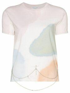 Collina Strada watercolour belly chain T-shirt - White
