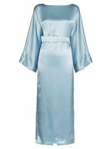 Bernadette Jackie belted midi dress - Blue