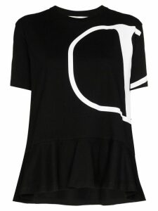 Valentino peplum VLOGO T-shirt - Black
