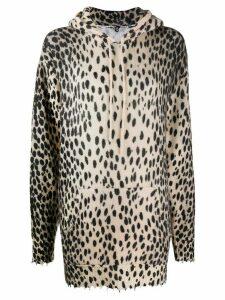 R13 cheetah print cashmere jumper - NEUTRALS
