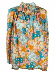 Dodo Bar Or floral-print cotton blouse - NEUTRALS