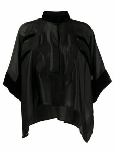 Sacai asymmetrical tunic blouse - Black