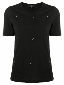 Fay embellished detail T-shirt - Black