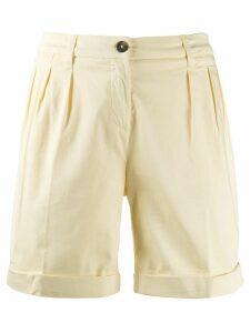 Fay turned up hem shorts - Yellow