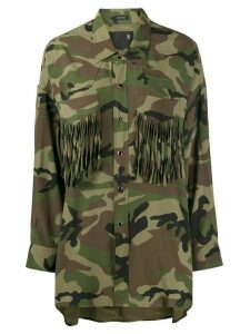 R13 oversized camouflage-print shirt - Green