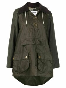 Barbour x Alexa Chung oversized waxed jacket - Green